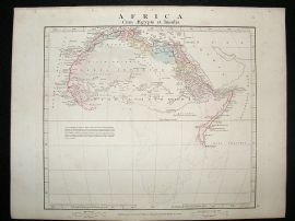 Africa: 1864 Antique Map, Aaron Arrowsmith